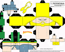 Cubeecraft Aquaman by RatedrCarlos