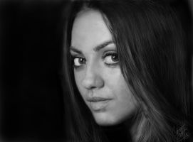 Mila Kunis 2 (Portrait) by digitalcc
