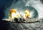 USS Iowa fires her guns to starboard by 121199