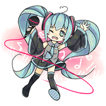 Doodly doodle Miku by Marchberry