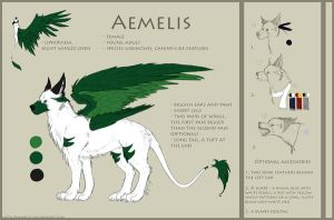 ref sheet: Aemelis 2.0 by eamilia