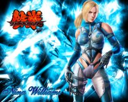Cyan Nina Williams Wallpaper by WhiteAngel50000