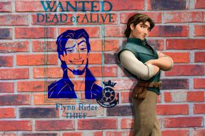 Flynn Rider Graffiti by Creepyland