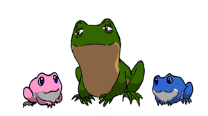 Swaine and kids (frogs) by FullmetalDevil