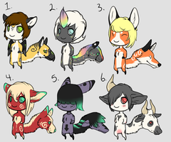 Chibi Tailhead adopt batch 3 [ALL GONE] by Kemikel