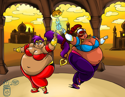 Commish: Jelly-Belly Dancers by RoyalJellySandwich