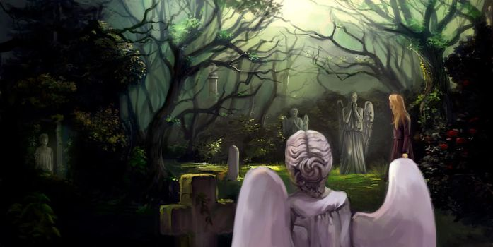 Weeping angels by Lvina