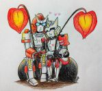 Lanternplant and two robots by mapelie