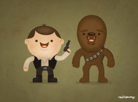 han and chewie by neilakoga