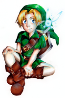 Link and Navi togetherness by MANGAdrawingMANIAC