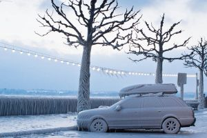 Frozen Car, Versoix by cwaddell