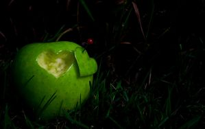 Heart in apple by KalleVictor