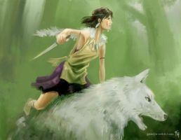 Princess Mononoke:Speed Paint by Tekamza