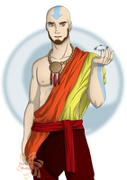 Adult Aang by Sakura-Rose12