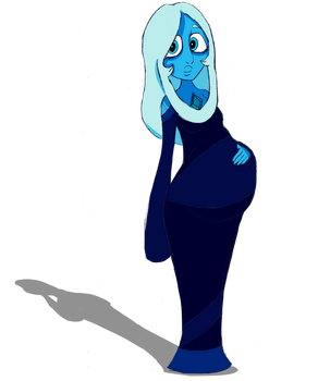 Birthstone Monthly Series: Blue Diamond by mo-la-in-tumtum
