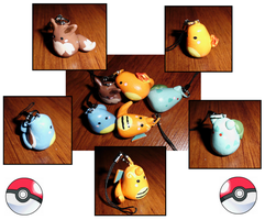 Poke-Peeps Cellphone Charms - Intro Set 2 by UniqueTreats