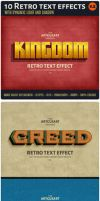 10Retro text effect v2 preview by artgusart