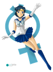 Sailor Mercury by ArlettePaola
