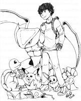 Pokemans for my bro -Ink- by karlarei2003