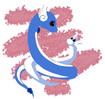 Dratini and Dragonair by Ellyism
