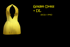 MMD: Golden dress+ DL by Chibi-Baka-San