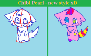Chibi Pearl - In her new style by PearlTheKitty2012