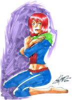 Mary Jane in markers by eisu