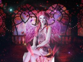 The Pink Angel Lady by annemaria48
