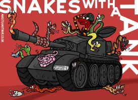 Snakes with a Tank by GagaMan