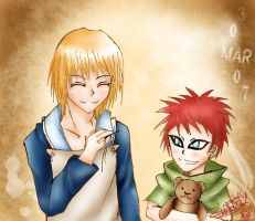 Yashamaru and Gaara by ZiaReN