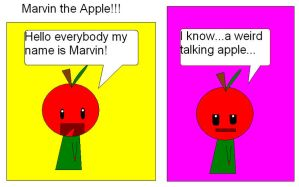 Marvin the Apple by babypixee