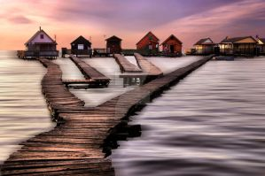 Houses on the Lake by tothfrantisek007
