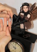 ooak Steampunk Aviator Fae - weapon picture by incantostudios