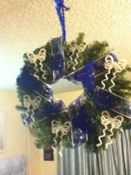 Cobalt Christmas Wreath Side 2 by LadyMidnight81