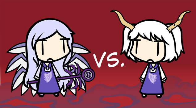 [Touhou X Undertale] Sariel Vs. Toriel by hetalover524