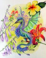 Crested Hummingbird Wivern... by Artsy50
