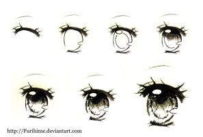 Sketch Eye Step by Step by Furihime
