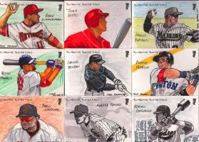 MLB Sketchcards- Set 2 by kumajin1