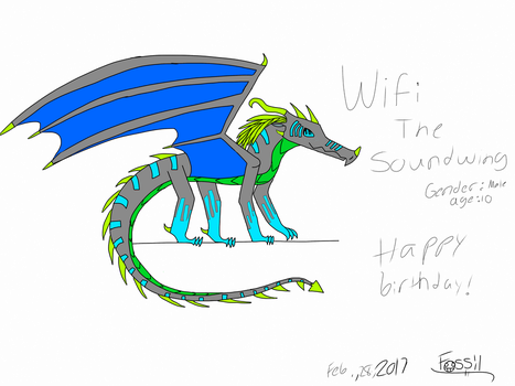 Wifi the sound wing by FossilDragon44