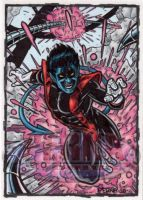 Nightcrawler Sketch Card by tonyperna