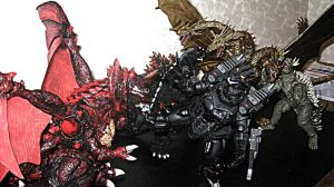 Articulated Godzilla Toys All Out War! B by XxHXCLIONxX