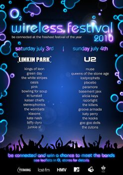 O2 Wireless Festival Poster by MoonfaceDesigns