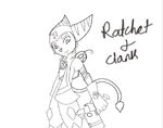 Ratchet and Clank (Lineart version) by EilganReviewz