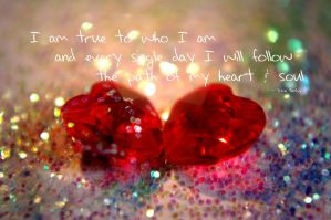 Affirmation - Being true by Tricia-Danby