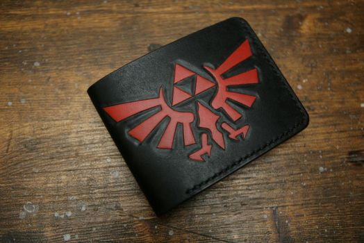 Zelda leather bifold wallet by Arnakhat