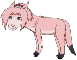 Sakura_Haruno_as_wolve_by_Dingua by Dingua