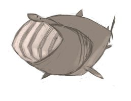 Shark Week - Basking Shark by anklesnsocks