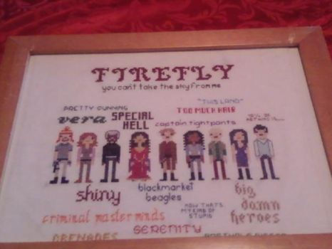 Firefly Serenity Crew Cross Stitch Sampler by agorby00