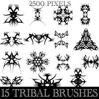 Tribal Photoshop Brushes by Brushportal