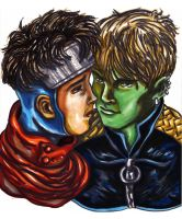 Wiccan and Hulkling by KwongBee-Arts